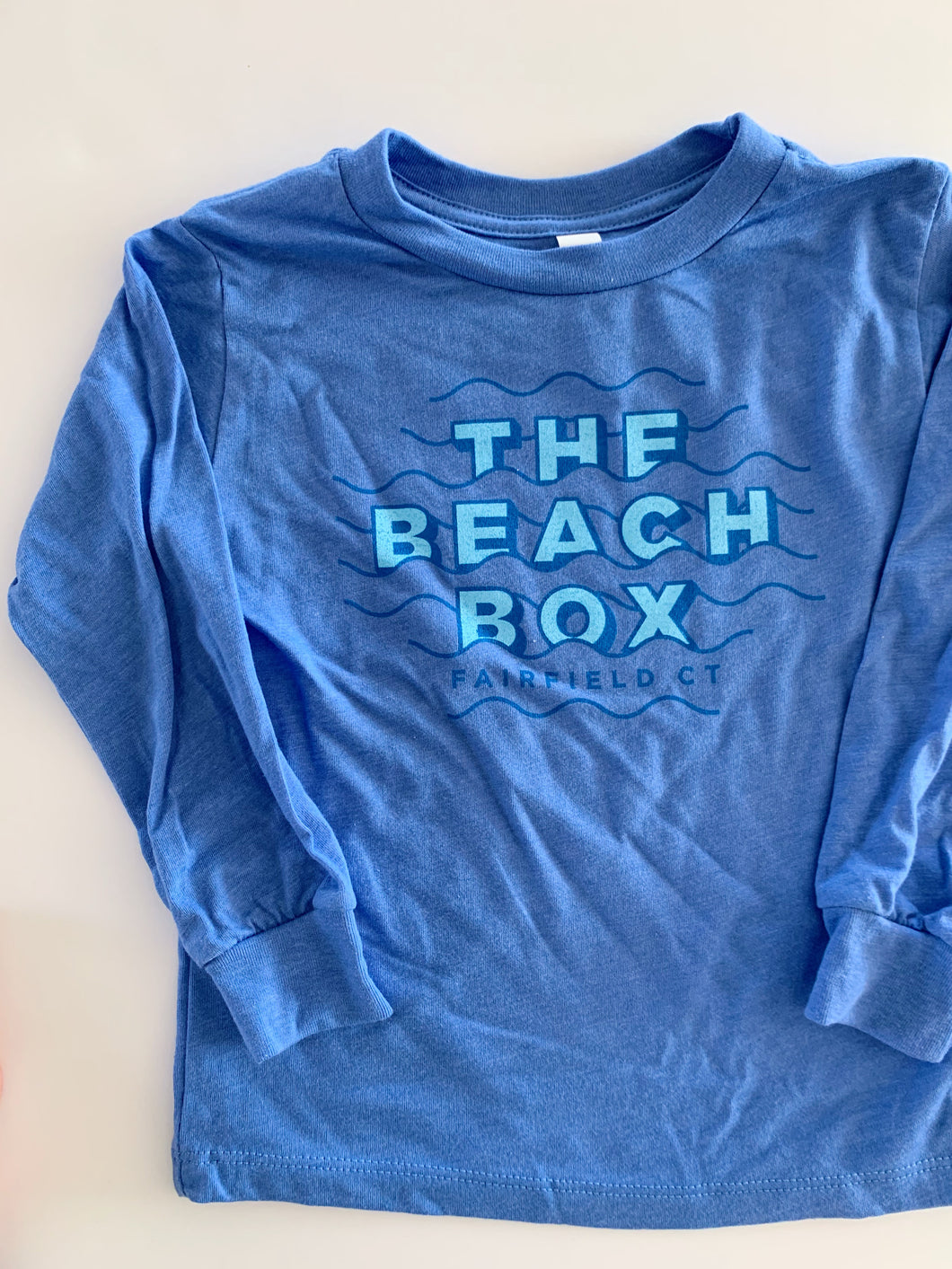 Toddler Classic Long Sleeve Tees: Blue with Blue Logo