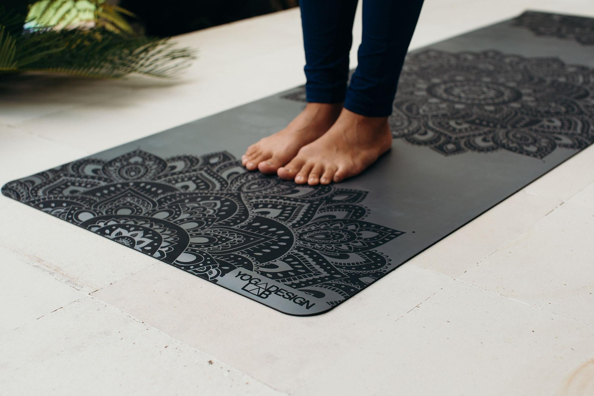 Infinity Yoga Mat 3mm Mandala Charcoal