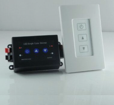 LED Single Color Dimmer RF Remote Controller Wall Mount