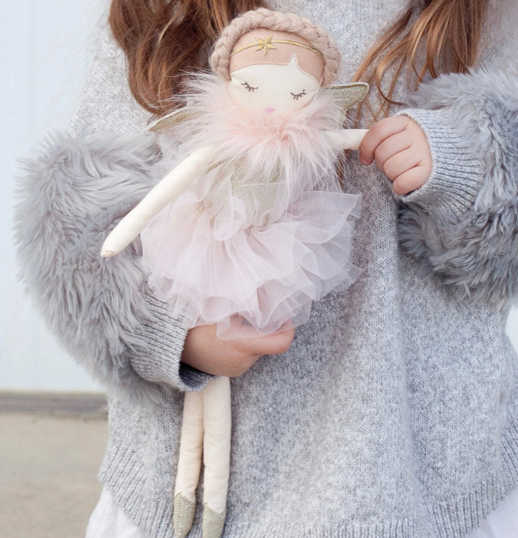 This beautiful keepsake Angel doll is your little one's new best friend