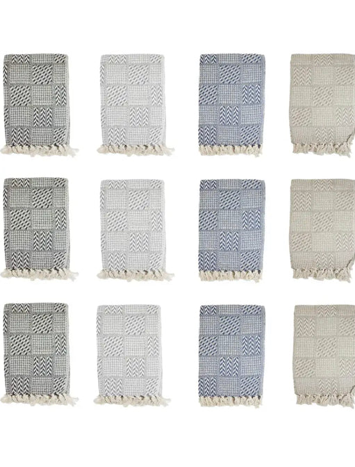 Patterned Cotton Throw Blanket