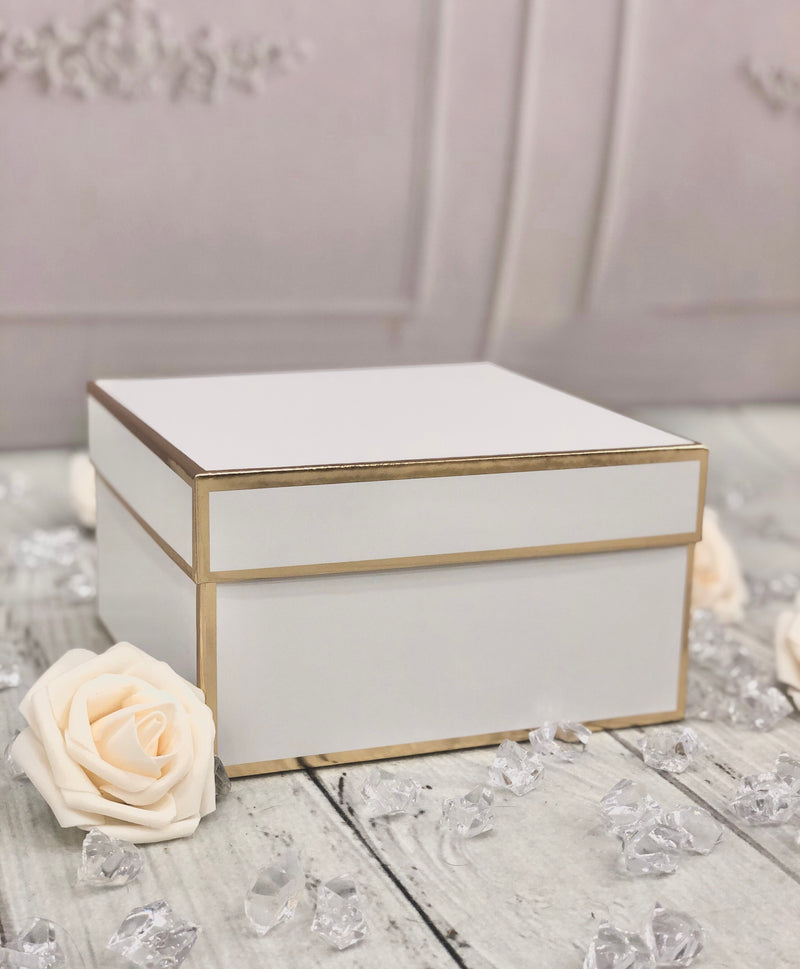 Premium White + Gold-trimmed Gift Box