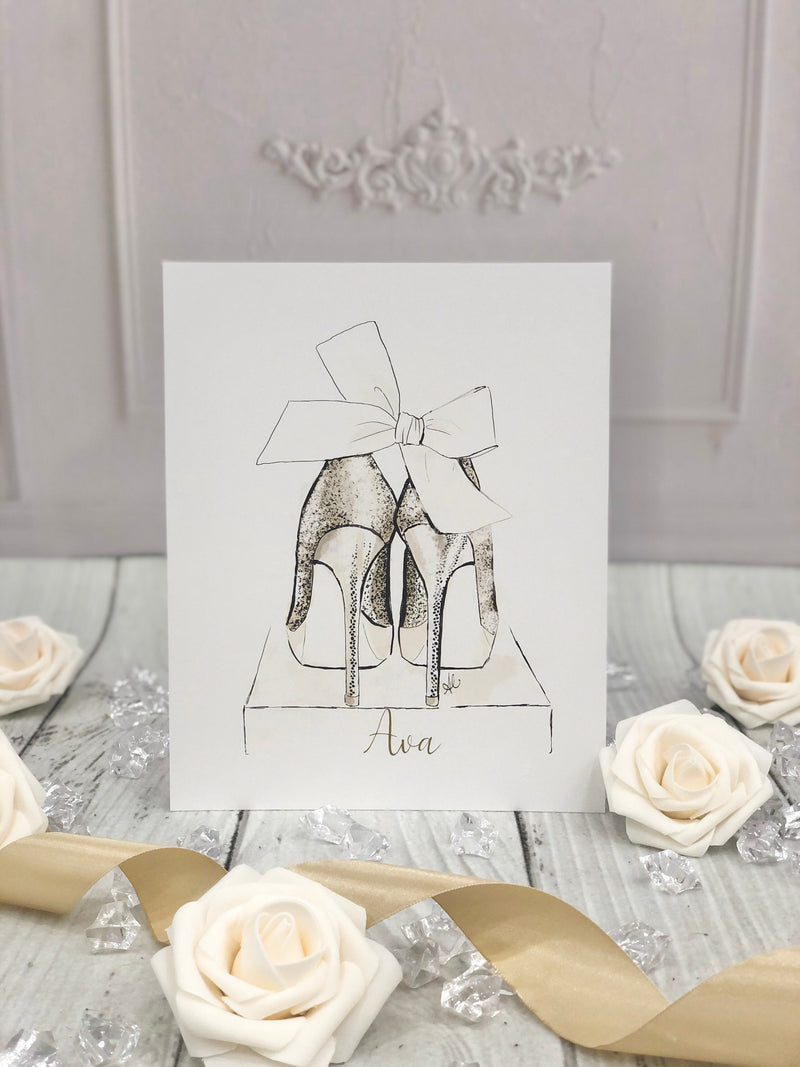 Prettiest Party Shoes Art Print