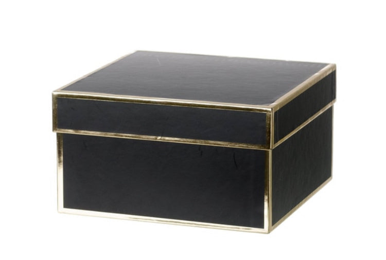 Premium Black + Gold-trimmed Gift Box