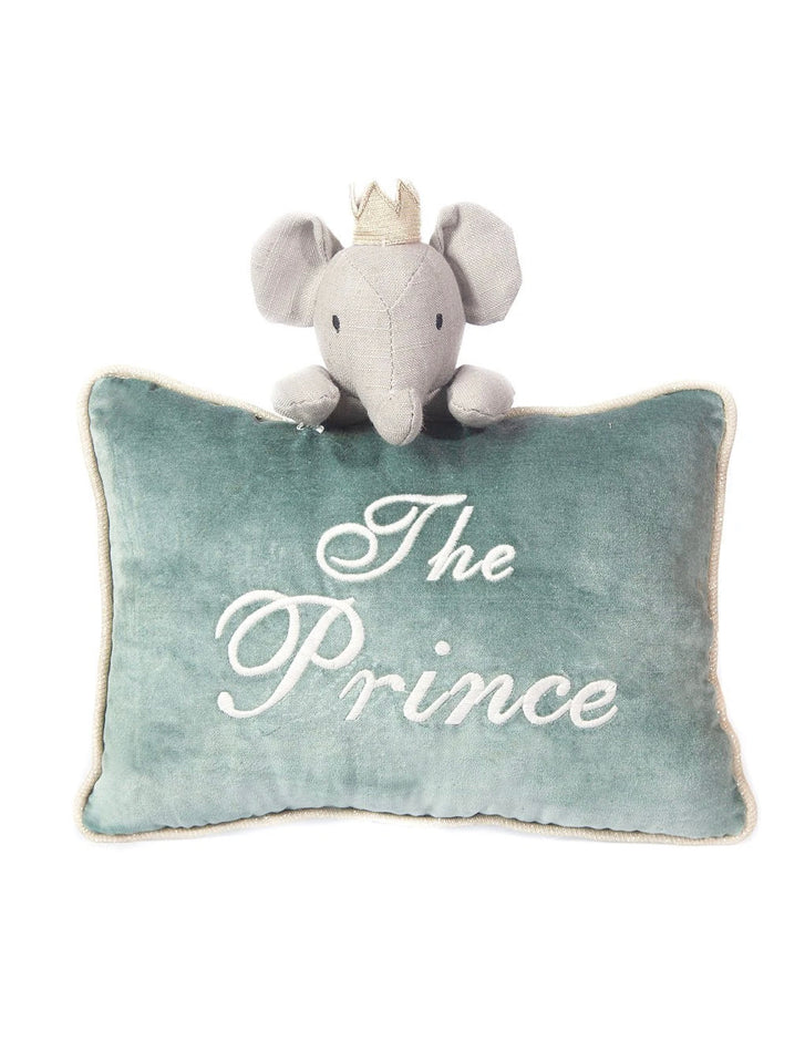 'The Prince' Blue Velvet Accent Pillow
