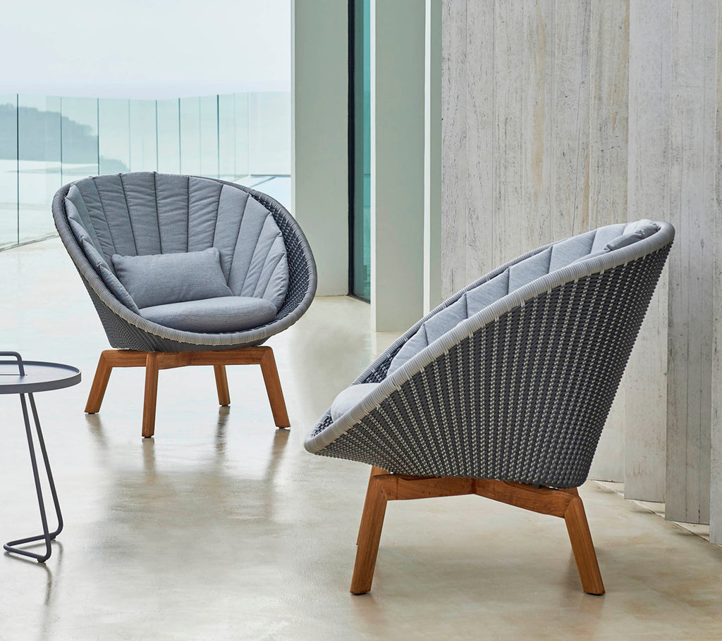 Peacock Loungesessel m/teak Beine, Cane-line Weave (5458)