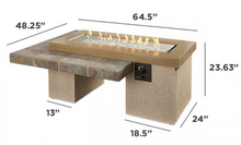 Load image into Gallery viewer, Brown Uptown Linear Gas Fire Pit Table