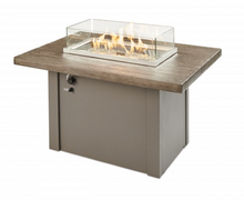 Load image into Gallery viewer, Driftwood Havenwood Gas Fire Pit Table with Grey Base