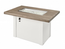 Load image into Gallery viewer, Driftwood Havenwood Gas Fire Pit Table with White Base