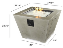 Load image into Gallery viewer, Cove Square Gas Fire Pit Table