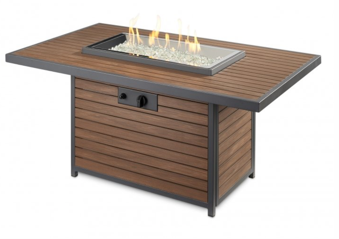 Kenwood Rectangular Chat Height Gas Fire Pit