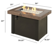 Load image into Gallery viewer, Brown Providence Rectangular Gas Fire Pit Table