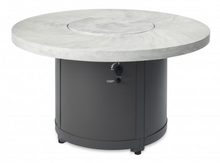 Load image into Gallery viewer, White Onyx Beacon Dining Height Gas Fire Pit Table