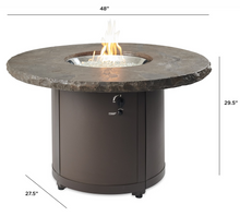 Load image into Gallery viewer, Marbleized Noche Beacon Dining Height Gas Fire Pit Table