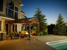 Load image into Gallery viewer, 14' X 14' Mocha Lodge II Wood Pergola Kit