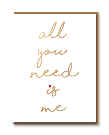 Carte double + enveloppe - All you need is me