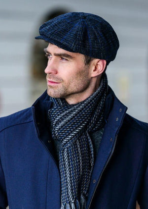 Mucros Charcoal Check Driving Cap