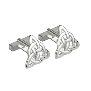 Solvar Rhodium Plated Celtic Knot Cufflinks S6449