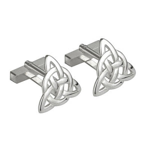 Large Silver Trinity Knot Cufflinks