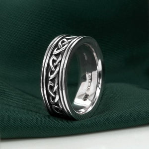 Solvar Gents Celtic Silver Band