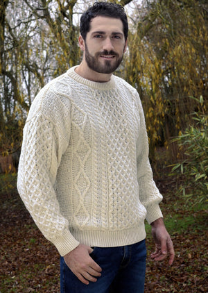 Inis Mor Aran Crew Neck Sweater