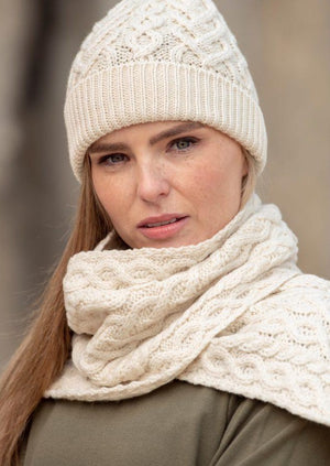 Aran Super Soft Heart Scarf