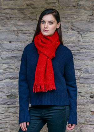 Mucros Red Alpaca Kells Irish Scarf