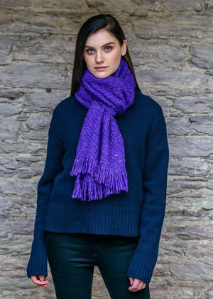 Mucros Purple Alpaca Kells Irish Scarf K7