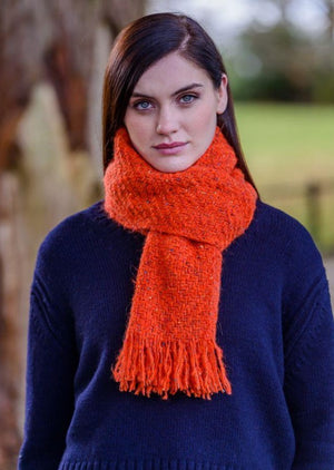 Mucros Alpaca Orange Kells Irish Scarf