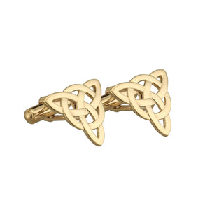 Solvar Gold Plated Celtic Knot Cufflinks s4629