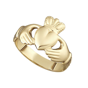 Solvar 10K Hollow Back Ladies Claddagh Ring S2989