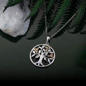 Solvar Diamond Tree Of Life Pendant
