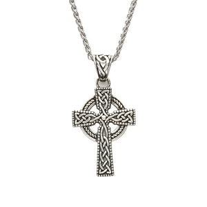 Sterling Silver Celtic Cross With Detailed Intricate Design