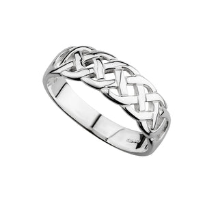 Solvar Ladies Celtic Ring Sterling Silver Band s2405