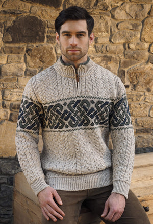 Aran Crafts Celtic Jacquard Sweater