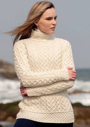 Luxurious Cable Knit Aran Sweater C4767