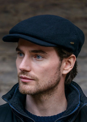 Black Kerry Flat Cap