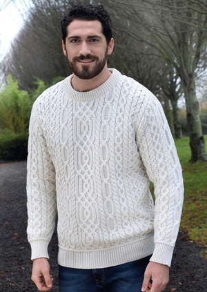 Aran Men's Super Soft Crew Neck Sweater