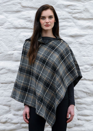 Mucros Gray Charcoal Check Wrap