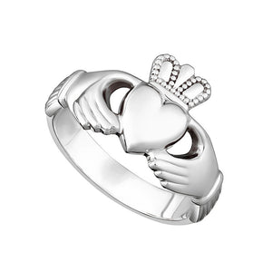 Solvar Sterling Silver Gents Claddagh Ring