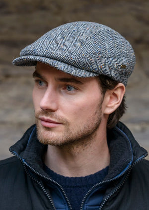 Mucros Grey Herringbone Kerry Cap