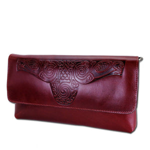 Lee River Red Ciara Clutch Bag