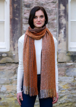 Mucros Rust Orange Islander Scarf