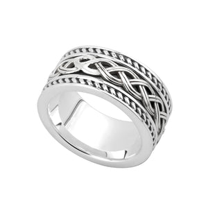Gents Silver Celtic Knot Ring