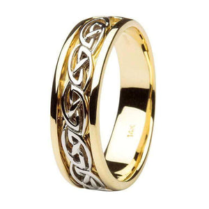 Gents Gold Celtic Knot Wedding Ring
