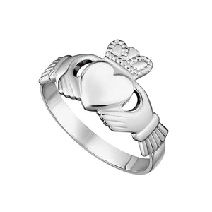 Solvar Ladies Sterling Silver Claddagh Ring
