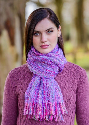 Mucros Purple Mix Mohair Scarf