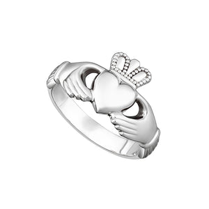 Solvar Sterling Silver Heavy Maids Claddagh Ring