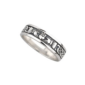 Solvar Silver Ladies Claddagh Ring s2829