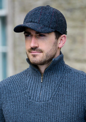 Mucros Tweed Baseball Cap